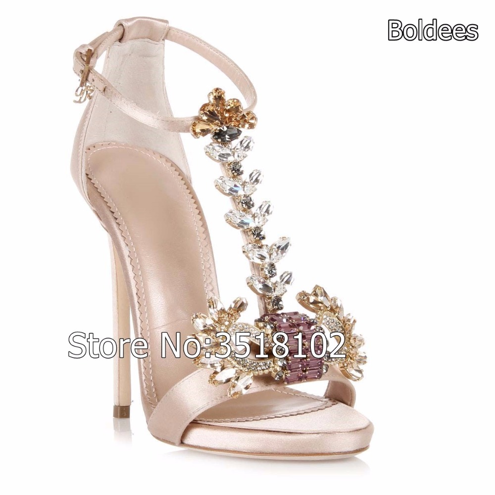 Latest Crystal Suede Sandals Jewel Embellished Gladiator Sandals Sexy High Heels Pumps Lace Up Open Toe Wedding Party Shoes все цены
