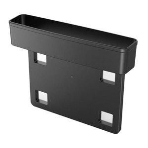 Image 3 - Receptor de asiento de coche negro, consola de relleno, bolsillo lateral, llena el espacio entre el asiento, accesorios para coche, 1 ud.