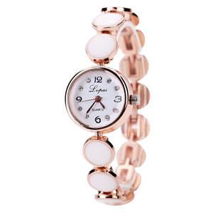Bracelet Watch Quart LVPAI Luxury Diamond-Scale Female White Black Retro Women Fashion