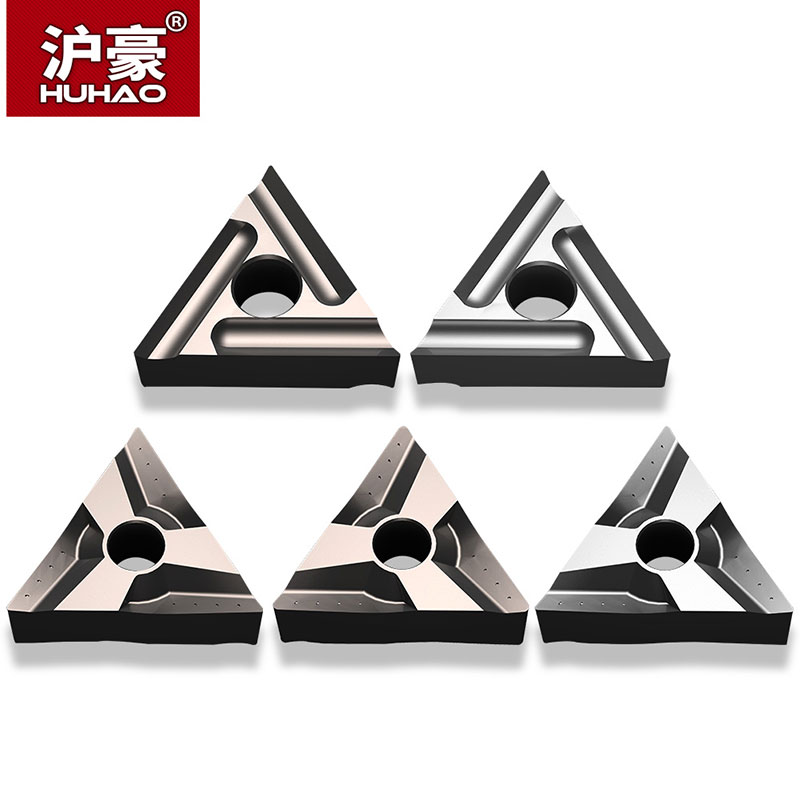 HUHAO 1 Pc Triangle CNC Insert TNMG160404 Outer Round Cutter Head Lathe Ceramic Blade For Stainless Steel Turning Tool