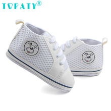 TOPATY 2018 New Spring Summer Baby Boys Girls lace up Breathable Mesh Sneakers Todder Shoes Sapatos De Bebe For 0-18Month