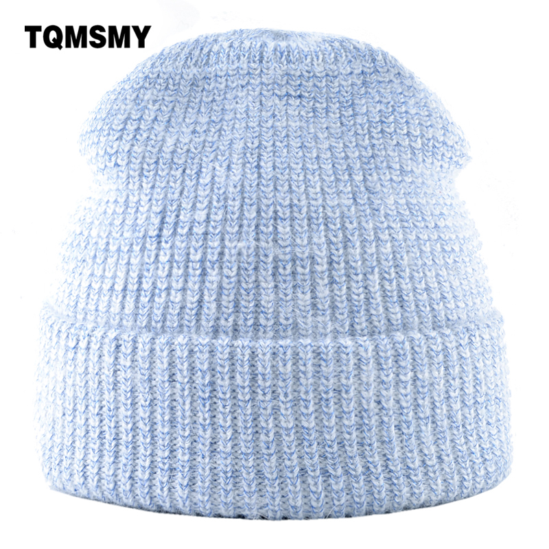 6b18ec8df81 Soft rabbit hair hat Women s Knitted wool beanie Ladys double-layer warmth  cap Solid color
