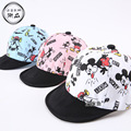 2017 Children Micky Mouse Print Baseball Caps Boys Girls Spring Summer Hats Sun Hat Baby & Kids Cotton Cap New Fashion Free Ship