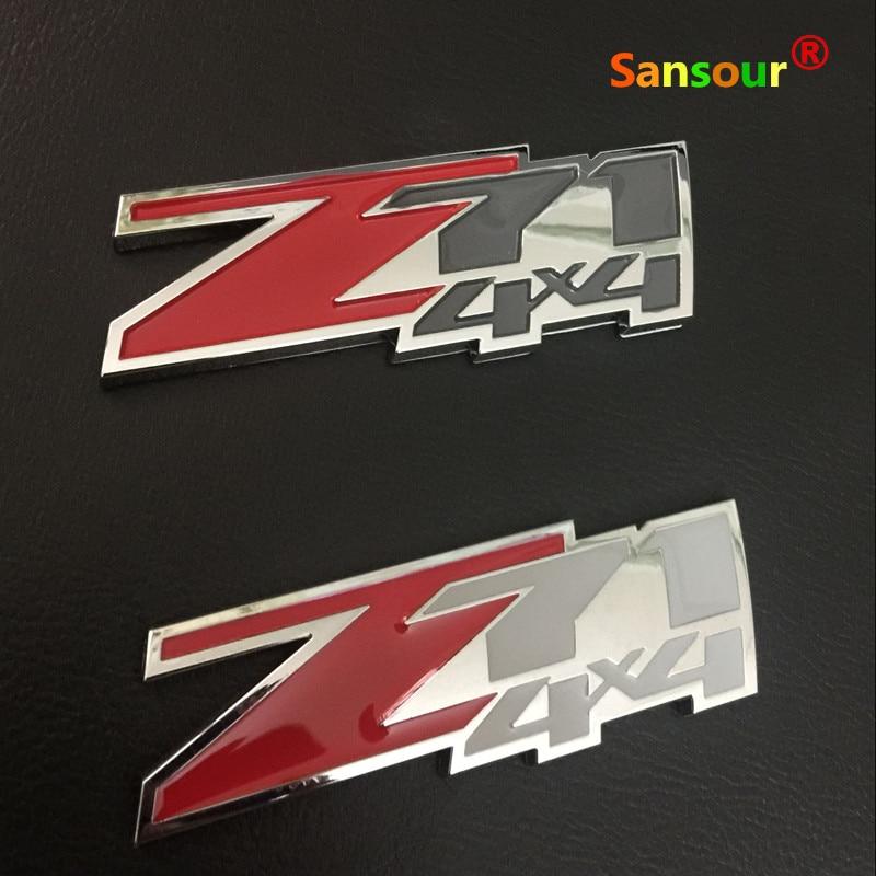 Z71 4x4 Emblem Decal Sticker Badge for Chevrolet Silverado GMC