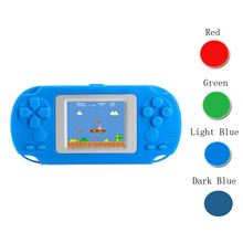2 인치 컬러 스크린 디스플레이 어린이 휴대용 휴대용 게임 레트로 비디오 콘솔 게임 플레이어 내장 268 어린 시절 클래식 게임