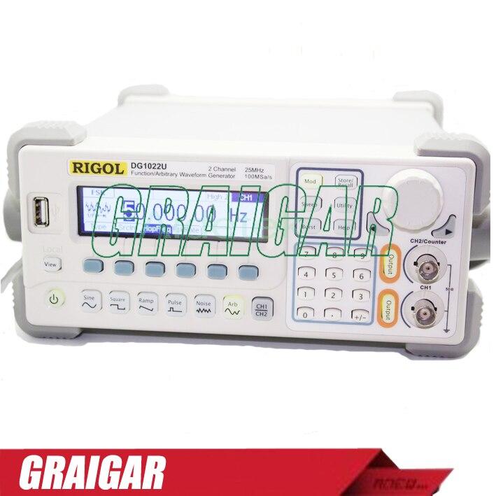 RIGOL DG1022U 2 Channel 25 MHz Function Waveform Signal Generator hot selling signal generator rigol dg1022u updated from dg1022 2 channel 25 mhz function waveform signal generator