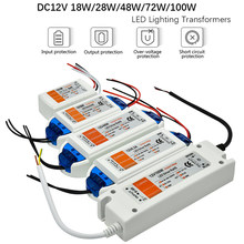 1pcs DC12V Power Supply Led Driver 18W / 28W / 48W / 72W / 100W Adapter Lighting Transformer Switch for LED Strip Ceiling Light(China)