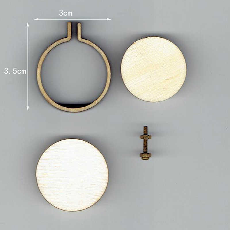 Mini Wooden Hoop/Ring Embroidery Frame Cross Stitch Sewing DIY Crafts Tool Art Works For Bag Clothes Sewing Tool