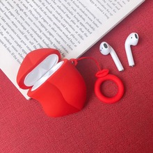 귀여운 만화 불독 이어폰 헤드셋 액세서리 TPU 소프트 케이스 Airpods 무선 1 2 블루투스 헤드셋 가방