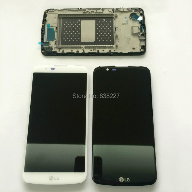Pantalla lcd de pantalla táctil para lg k10 lte k420n k430 k430ds pantalla lcd de cristal digitalizador asamblea con marco para lg k10tv k430tv