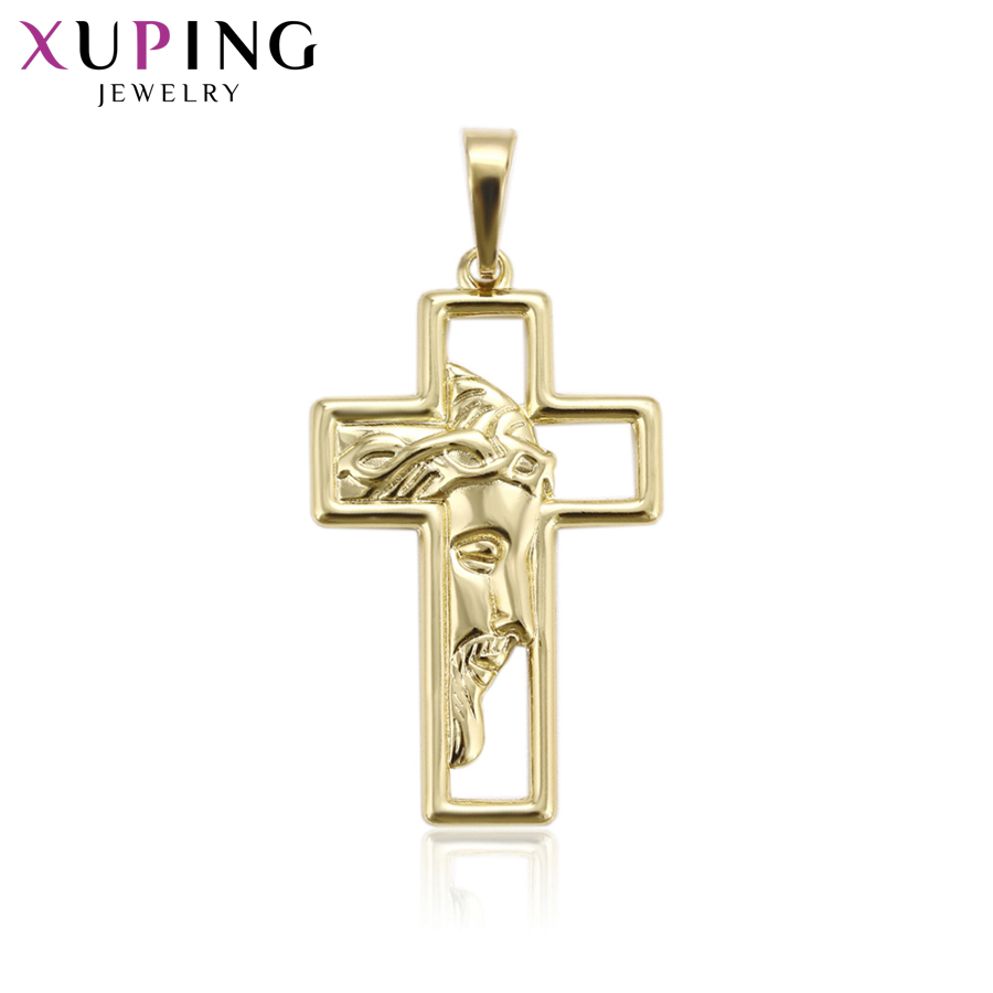 11.11 Deals Xuping Jesus Seris Charm Style Necklace Pendant Cross Deign for Women Girls Jewelry Black Friday Gifts S83,6-33362