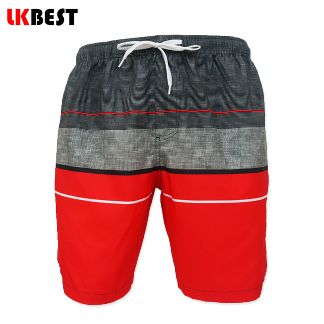 LKBEST New summer men's board shorts with Mesh Lining Casual beach shorts for men plus size male bermuda swimwear Trunks Q104