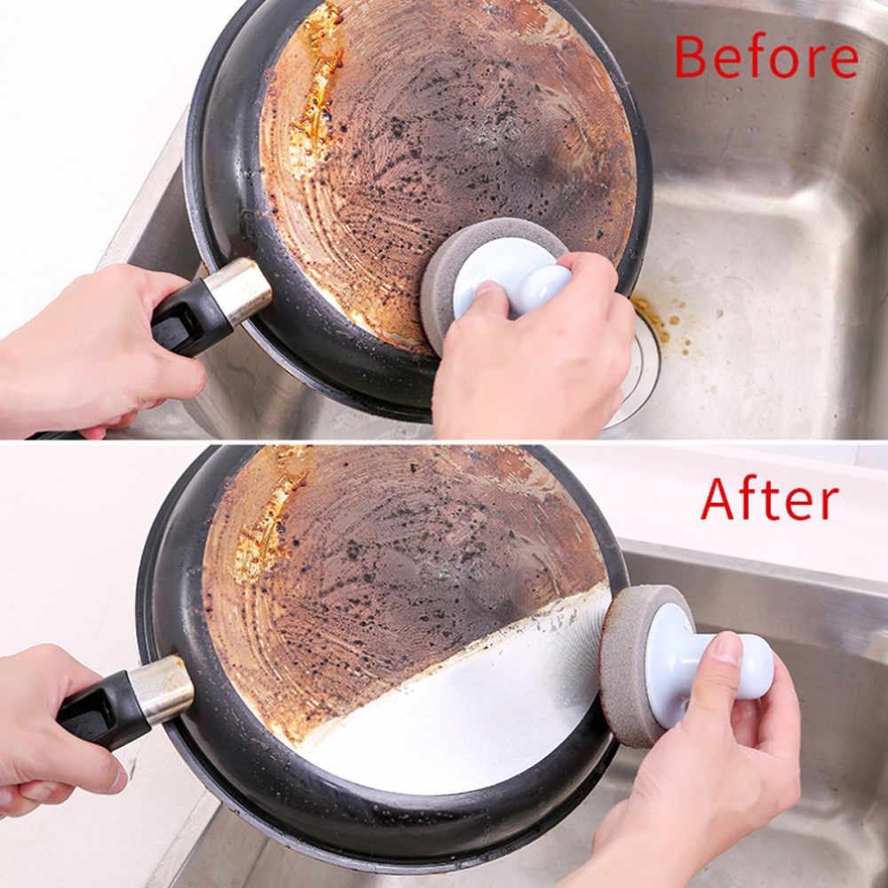 Kitchen Nano Emery Magic Clean Rub Pot Rust Focal Stains Sponge Brush Pot strong cleaning brush Kitchen Gadgets 1.126