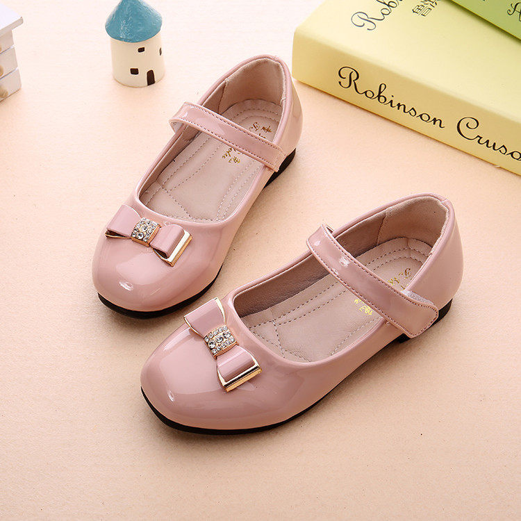 2018 new childrens lace bow girl princess shoes spring / autumn fashion party shoes square mouth comfortable shoes