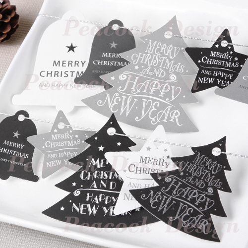 merry christmas happy new year 140pcs paper labels packaging party gift decoration tags scrapbooking craft paper diy decoration in party diy decorations