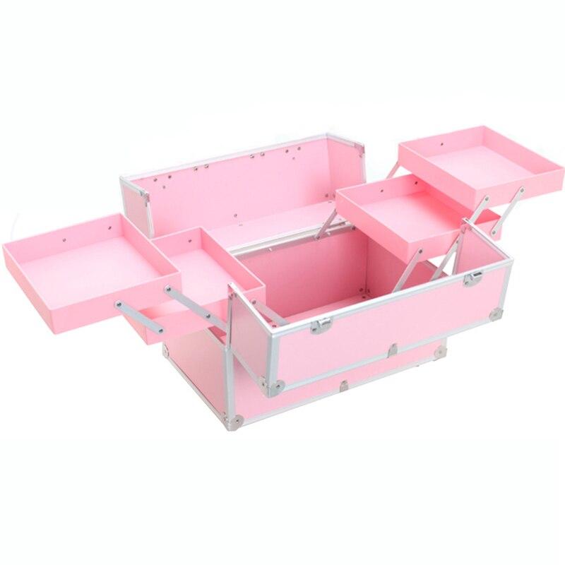Capacité Black Cosmétique Maquillage Femmes Sacs Rangement De Organisateur Cas Cosmétiques Boîte pink Grande Voyage Portable blue Professionnel Valises Sac 5aq1qI8w