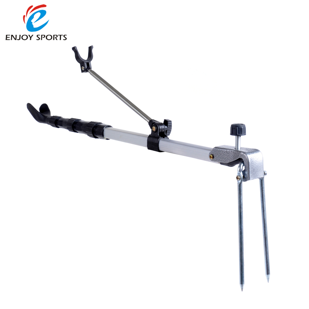 Fishing pole holder rod stand bracket angle adjustable for Fishing tool holder