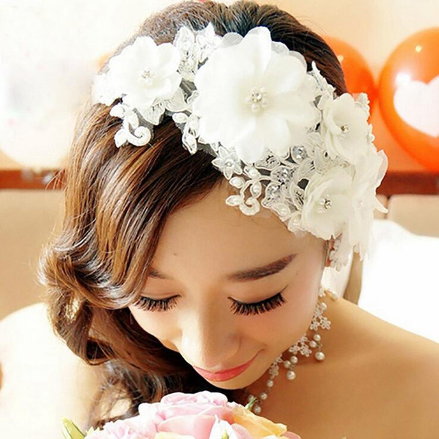 Sposa handmade copricapo Coreano del merletto del fiore regalo di nozze  gioielli Gioielli accessori di cerimonia 9c272f824e71
