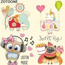 ZOTOONE Music Patches For Clothing  Ironing Stickers Easy Print On T-shirt Dresses A-level Washable Heat Transfer Appliqued iron clothing to iron on patches personality wolf patches a level washable heat transfer stickers 25 19cm appliqued