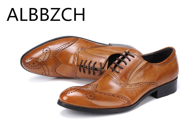 Trending Brogue Genuine Leather Dress Men Shoes Fashion Carving Oxford Wedding Shoes Mens High Grade Office Work Man ShoesTrending Brogue Genuine Leather Dress Men Shoes Fashion Carving Oxford Wedding Shoes Mens High Grade Office Work Man Shoes