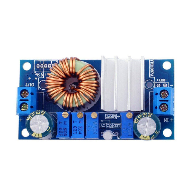 DC-DC 5A Buck Constant Voltage Constant Current MPPT Solar Panel Controller 6-36V To 1.25-32V Step Down Charging Module