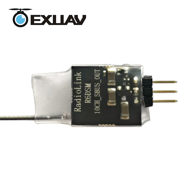 EXUAV Radiolink R6DSM Receiver 2.4G 10 Channels SBUS DSSS FHSS Spread Spectrum for Transmitters AT9S/AT10 RC Multirotor