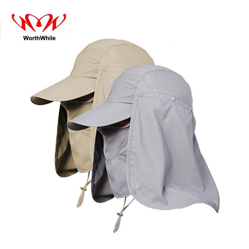 WorthWhile UV Protection Fishing Cap Face Neck Head Sunshade Cover Visor Falp Hat Outdoor Camping Hiking Travel Survival Kits