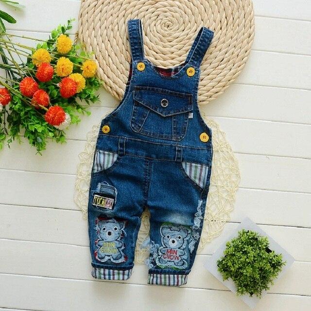 3c32a4dc23 IENENS Infantil Niño niño largo pantalones de mezclilla mono
