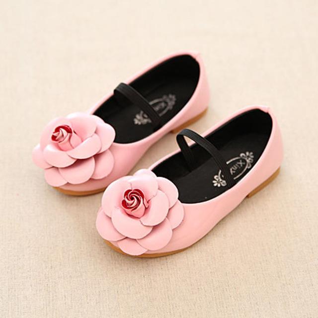 Estilo europeu Flor Moda Bebê Meninas Calçados Elastic BabyGirls Primeiros Walkers Infantil Menina Flor Caminhada Sapatos Zapatos Ninas