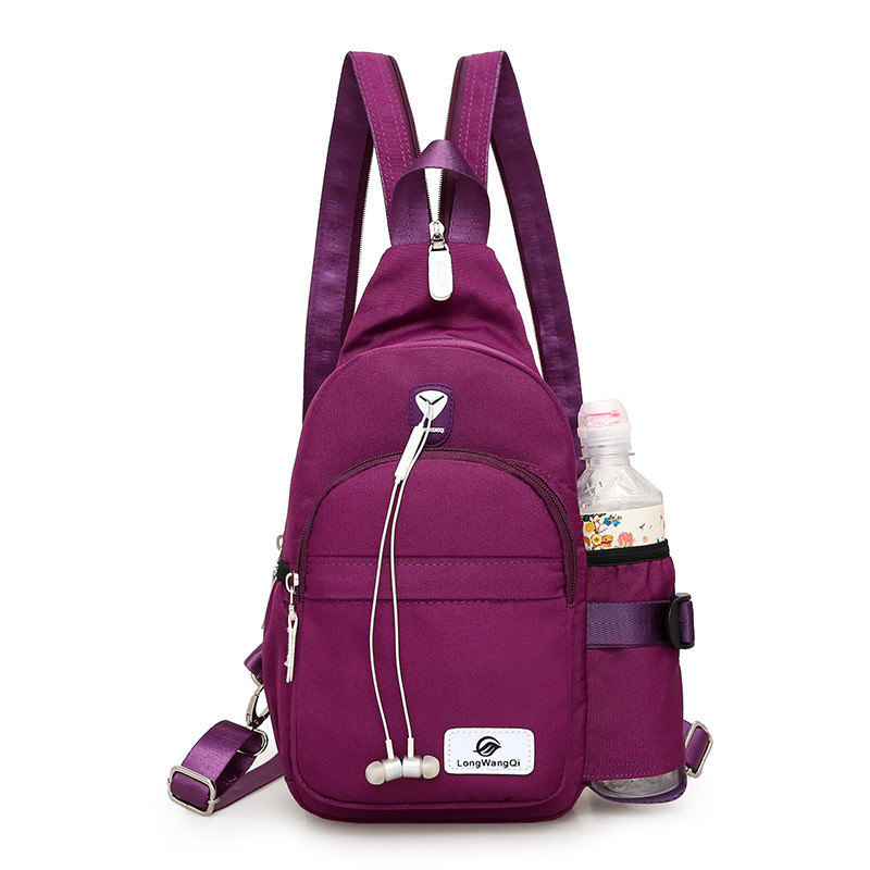 New Women's Nylon Shoulder Bag Daily Travel Small Backpacks Bag Female Casual Chest Bags Ladies Bagpack Mochilas
