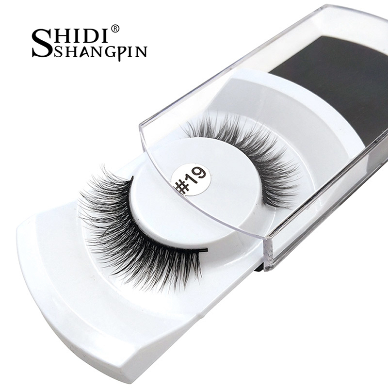 Pestañas largas y suaves Falsas 1 Par 100% Real 3D Visón Fake - Maquillaje