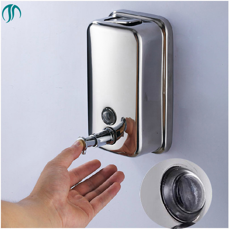 Liquid Dispenser Wall Mounted Shampoo Container Hand