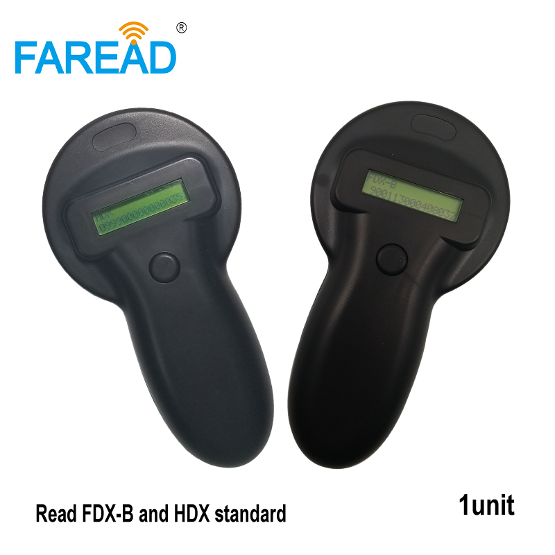 Best Sale International Standard 134.2KHz Animal RFID Chip Tag Reader For Dog Cat Pet Pig Sheep Tagging ISO11784/5 HDX And FDX-B