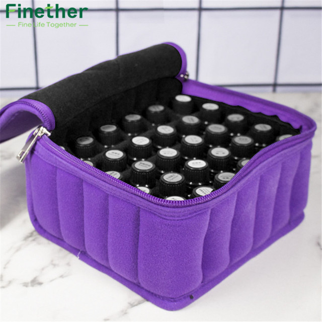 Finether 30 Bottle Essential Oil Carrying Holder Case Perfume Oil Portable  Travel Storage Box Nail