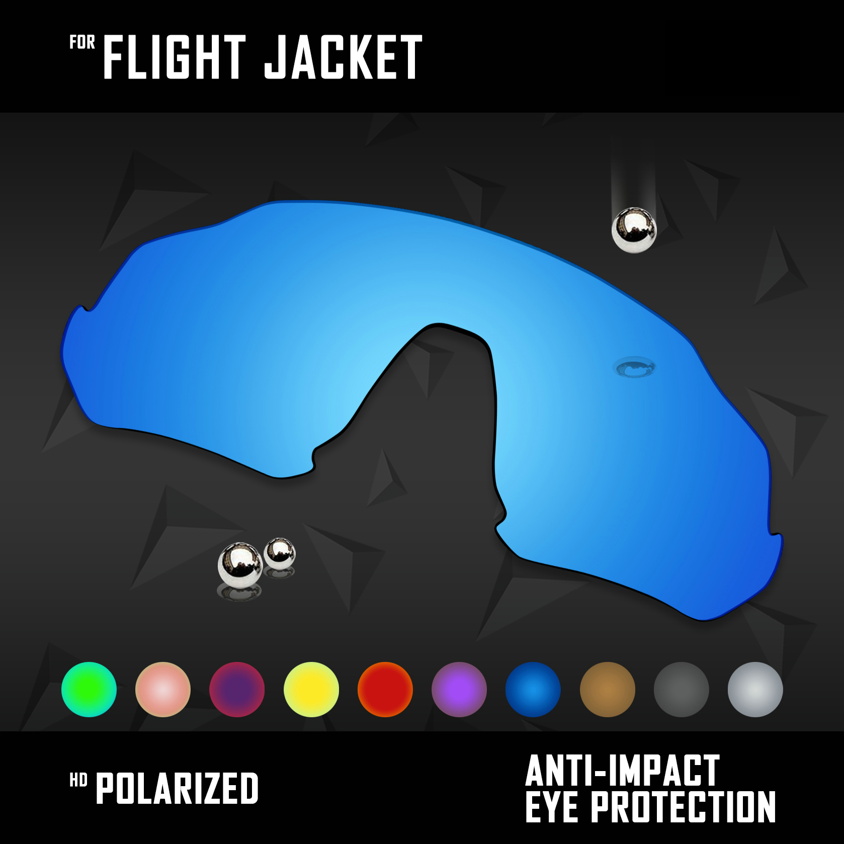 OOWLIT Lenses Replacements For Oakley Flight Jacket Sunglasses Polarized - Multi Colors