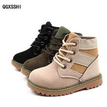2a007268d28e Autumn Winter Children s Fashion Combat Boots With Plush Kids Sport Martin  Boot Child Warm Shoe For
