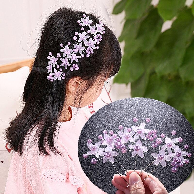 Hairpins Hairstyles Girl 3pcs/Set Flower Bridal Hair Pins Hair Jewelry Accessories Hairwear Girls Hair Clips For Women Fashion