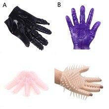 Juguetes sexuales eróticos masajeador guantes Plam masturbación BDSM para parejas estimulador vagina masaje de pezones juguetes sexuales