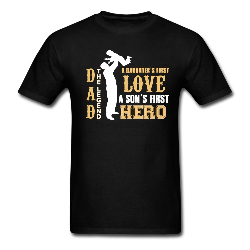 LEGEND DAD T-Shirts Men Clothing My Love Hero Dad Funny Printing T Shirt Homme Father Day Gift Plus Size Tops