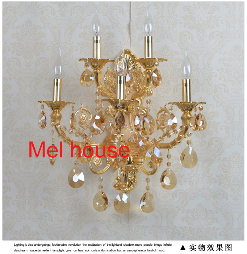 LED Wall Lamp Light Fixture Wall Sconce Porch Brushed Aluminum Crystal wall Lighting for Bath Bedroom Living Room Hallway lamps