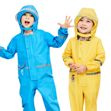 цены Spring And Summer 2-7 Years Old Children Raincoat Wind Rain Waterproof Kids Suit Rain Coverall Rain Pant Baby Clothes Sets