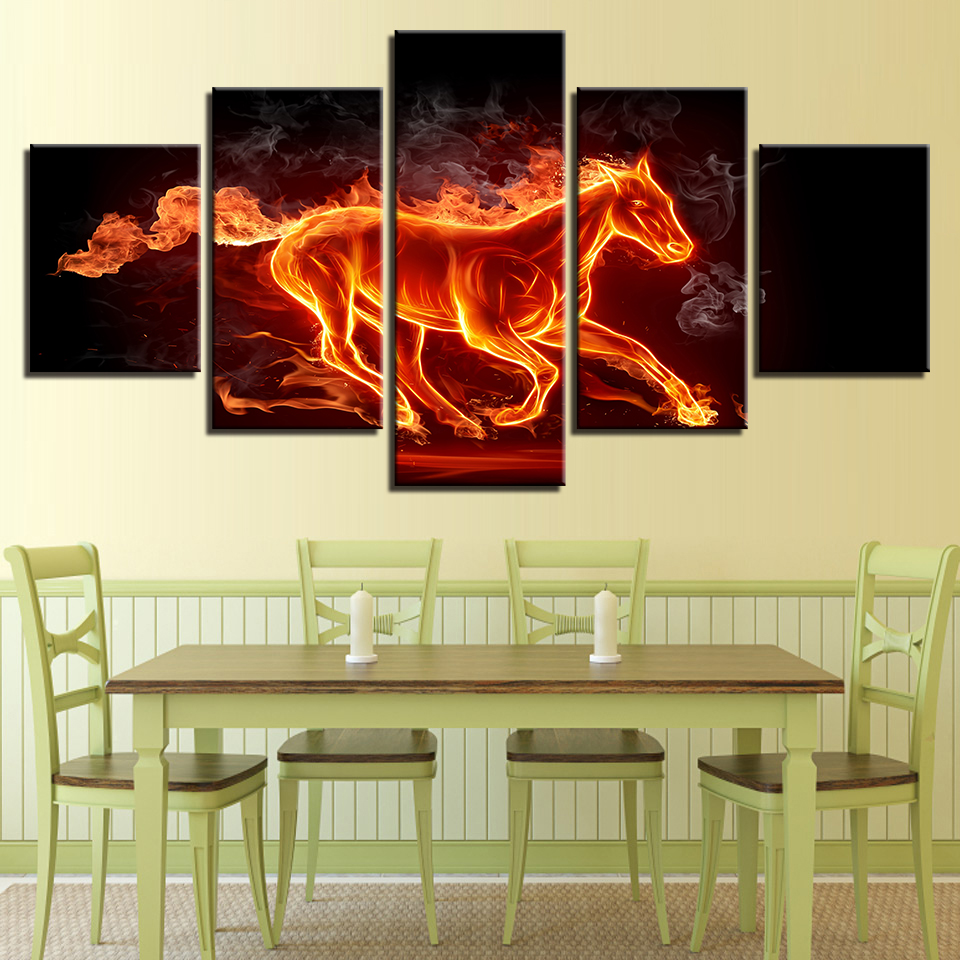 Wall Art Framework Canvas Paintings Living Room HD Prints 5 Pieces ...