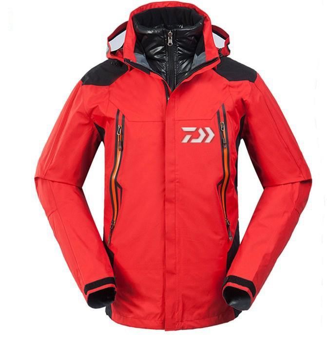 2019 extérieur DAIWA imperméable veste de pêche hommes épais chaud pêche vers le bas manteau automne hiver pêche randonnée vêtements chemise Uv