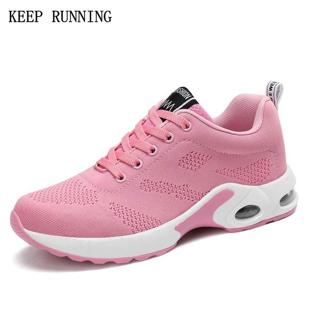 Sneakers Athletic Shoes Women Air Cushion Breathable Walking Shoes Red Black Pink Purple 3540  MNYELIVPN