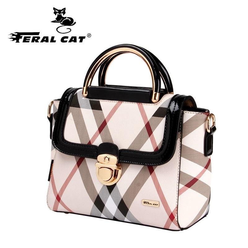 Feral cat famosa marca bolsos de las mujeres 2017 bolsos de diseño de alta calid
