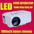 """Mini digital 3D  Projector Multimedia LED LCD with/ Remote Laptop Desk 100"""" Movies with HDMI VGA AV USB SD Ports"""