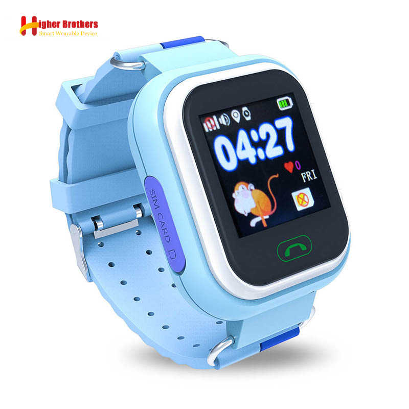 Smart Safe Q90 Kids Children Baby Watch Clock SOS Call GPS WIFI Location Tracker Anti Lost Alarm Reminder Monitor Smartwatch IOS