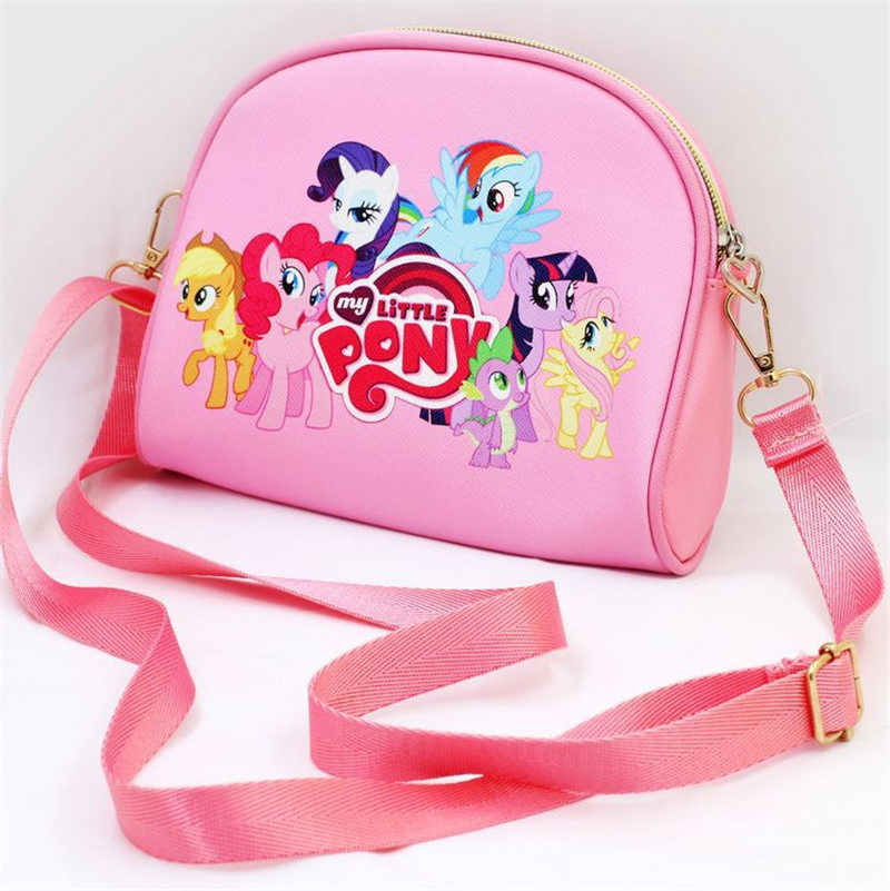 Hot Cartoon my little pony kinderen handtassen melody anime cartoon PU meisje messenger bag reizen opbergzakken