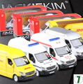 New Mercedes-Benz sprinter 1:36 car model Kids Toy truck pull back DHL Transporter ambulance police Freight boxed collection