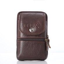 BISI GORO, bolso multifunción de cuero genuino para la cintura, bolso de cinturón, nuevo chaleco de piel de vaca con cremallera, bolso de identificación vertical